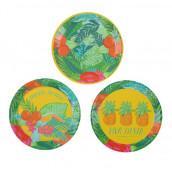 Les assiettes en carton thème tropical (x12)