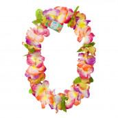 Le collier hawaïen de fleurs