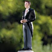 La figurine marié en costume cake topper