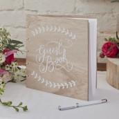 Le livre d'or Guestbook en bois (personnalisable)