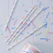 Les 25 pailles confettis
