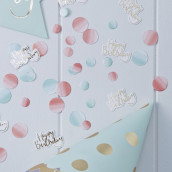 Les confettis de table Happy birthday ombre