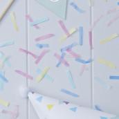 Les confettis de table bandes multicolores