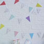La guirlande de fanions motif confettis