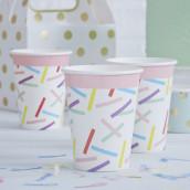 Les 8 gobelets en carton confettis