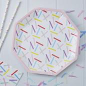 Les assiettes en carton confettis
