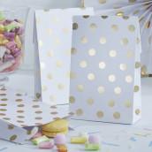 Les 8 sacs en papier pois or