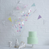 Les ballons transparents confettis