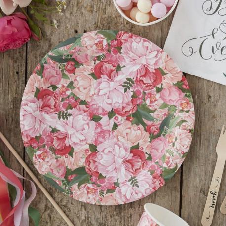 Les assiettes en carton champêtres
