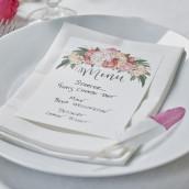 La carte de menu bohème vierges(x10)