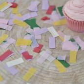 Les confettis multicolores bohème