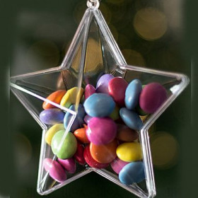 L'étoile contenant dragées en plexiglas (x3)