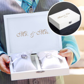 Le porte alliances coffret Mr & Mrs