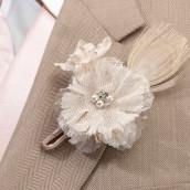 La boutonnière mariage coquillage