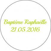 Les 24 stickers personnalisés baptême moustache