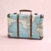 La valise rétro mappemonde