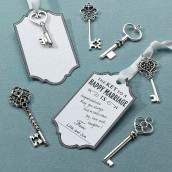 Le set de 24 clés argent et 24 cartes tags