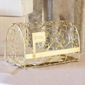 L'urne de mariage boîte aux lettres or