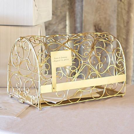 urne mariage boite aux lettres or. Black Bedroom Furniture Sets. Home Design Ideas