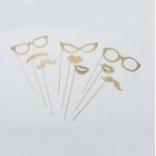 Les 9 accessoires dorés pour photobooth