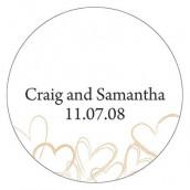 Le sticker personnalisé romantique - 15 coloris