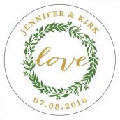 Le sticker personnalisé love champêtre