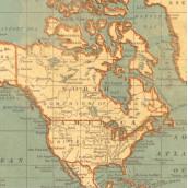 Le papier motif mappemonde