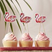 Les pics à cupcake flamand rose