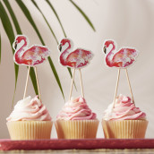 Les pics à cupcake flamand rose