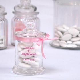 La bonbonnière en verre personnalisée