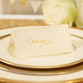 Le marque place carton rose et or (par 10)