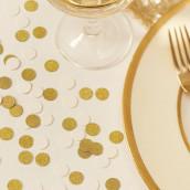 Les confettis ivoire et doré
