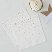 Les 20 serviettes étoiles dorées
