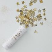 Le canon à confettis étoile or