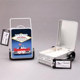 Le contenant à dragées valise métallique