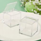 La boite à dragées cube en plexiglas