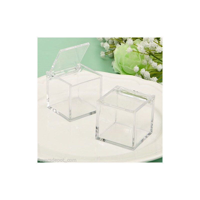 boite dragees cube en plexiglas. Black Bedroom Furniture Sets. Home Design Ideas