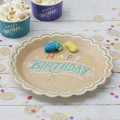 Les 8 assiettes happy birthday kraft