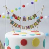 Le mini bannière anniversaire pour gâteau