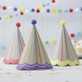 Les 6 chapeaux anniversaire kraft