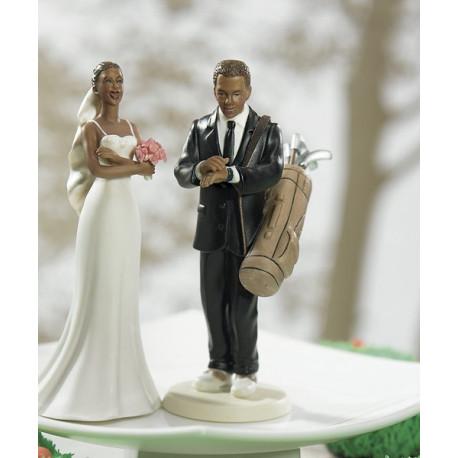 figurine mariage golf