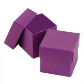 La boite à dragées cube violet (par 25)