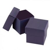 La boite à dragées cube bleu marine (par 25)