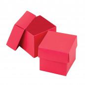 Les boites à dragées cube fuchsia (par 25)