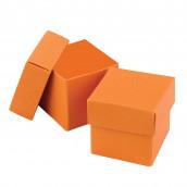 La boite à dragées cube orange (par 25)