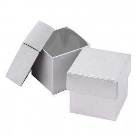 La boite à dragées cube argent (par 25)