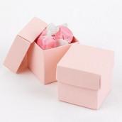 La boite à dragées cube rose (par 25)