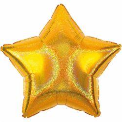 Le ballon aluminium étoile argent