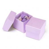 La boite à dragées cube parme (par 25)
