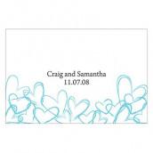 Les 2 cartes 7,6cmx5cm romantiques